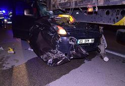 Hafif ticari araç TIRa çarptı: 1 ölü, 1 yaralı