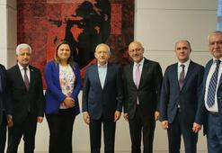 CHP lideri Kılıçdaroğlu madencilik sektörü STK yöneticileriyle görüştü
