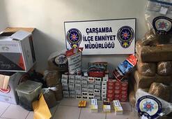 Çarşambada, Duman operasyonunda 84 kilo kaçak tütün ele geçirildi