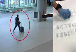 İstanbul Havalimanında pırlanta operasyonu kamerada