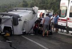 TIRın kupası koptu, şoför ağır yaralandı