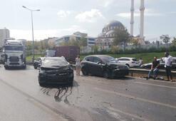 Son dakika: Esenyurtta zincirleme kaza Trafik durma noktasına geldi...