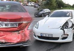 TEM bağlantı yolunda kaza Trafik kilit