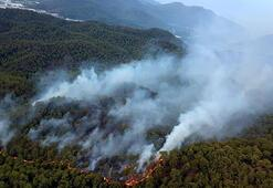 Ortacada 25 hektarlık alanda etkili yangını söndürme çalışmaları sürüyor