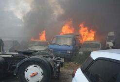 Bursa'da yediemin deposunda büyük yangın