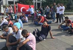 İBBde işten çıkarılan işçilerin eylemi 18. gününde