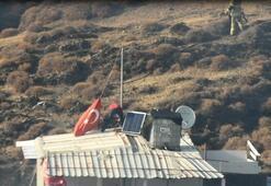 Yangında eşyalarını bıraktı ama Türk bayrağını kurtardı