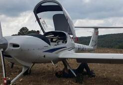 Motor arızası yapan eğitim uçağı Büyükçekmceye indi