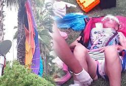 Rus turistin feci ölümü Palmiyelere çarpıp yere çakıldı