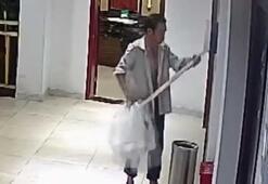 Tuvalet kağıdı hırsızlarını güvenlik kamerası yakaladı