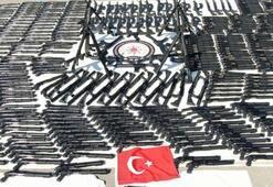 İnternetten kaçak tüfek satılan depoya operasyon