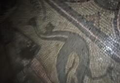 Kaçak kazıda 1500 yıllık mozaik bulundu