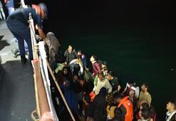 Enez açıklarında 41 kaçak göçmen yakalandı