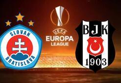 Slovan Bratislava Beşiktaş maçı hangi kanalda şifreli mi BJK muhtemel ilk 11