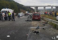 Kuzey Marmara Otoyolunda kaza Ölü ve yaralı var
