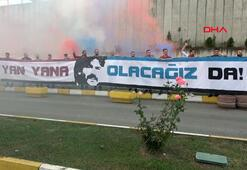 Trabzonsporlu taraftarlardan Ünal Karamana destek