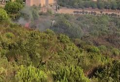 Aydos Ormanında yangının çıkış anı kamerada