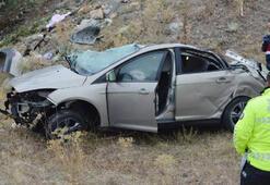 Otomobil takla attı Ölü ve yaralılar var...