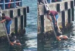 Galata Köprüsünde intihar girişimi