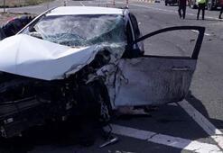 Kırıkkalede iki otomobil çarpıştı: 7 yaralı