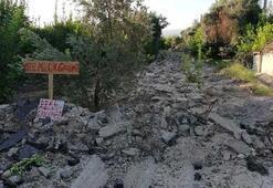 Mahallede büyük şok 50 yıllık kullanılan asfalt yol kapatıldı