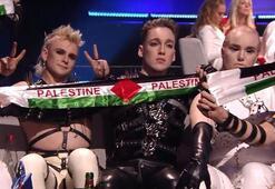 Avrupa Yayın Birliğinden İzlandaya Filistin bayrağı cezası