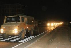 Şanlıurfada Suriye sınırına askeri sevkiyat