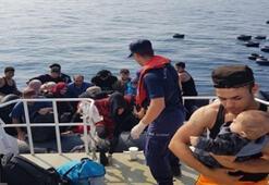 Kuşadası açıklarında 44 kaçak göçmen yakalandı