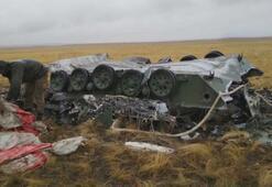Paraşütleri açılmayan zırhlılar yere çakıldı