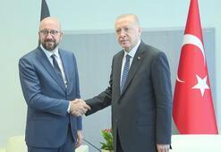 Cumhurbaşkanı Erdoğan, Belçika Başbakanı Michelle görüştü