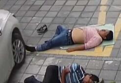 Sokakta uyurken üstünden araba geçti