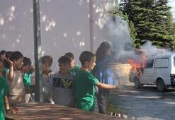 Yangın tatbikatında akılalmaz olay Öğrenciler dumandan etkilendi