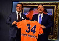 Ekrem İmamoğlundan Başakşehir Futbol Kulübüne ziyaret