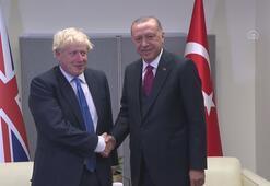 Cumhurbaşkanı Erdoğan, İngiltere Başbakanı Johnsonla görüştü -