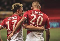 Monaco 3 attı, 3 aldı Slimaniden asist...