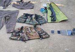 3 PKKlının etkisiz hale getirildiği operasyonda, silah ve uyuşturucu ele geçirildi