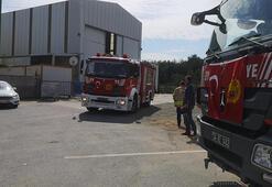 Tuzlada fabrikanın çatısında yangın