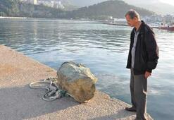 Denizden çıkan kaya parçası için meteor iddiası