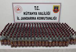 Kütahya'da 228 şişe kaçak içki ele geçirildi