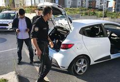 Avcılarda polisten kaçan araç lastiklerine ateş açılarak durduruldu
