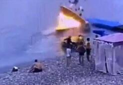 Sürat teknesi böyle patladı