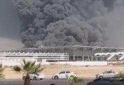 Suudi Arabistanda tren istasyonunda yangın