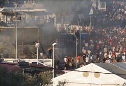 Midillideki mülteci kampında bir kadın ve çocuk yanarak öldü