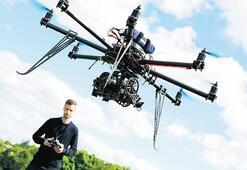 Her yerde drone var