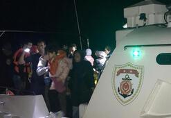 Edirnede lastik botta 48 kaçak göçmen yakalandı
