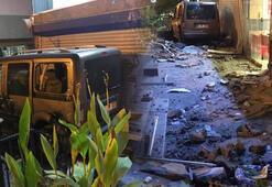 Araç restorana girdi, çevredekiler sürücüyü dövdü