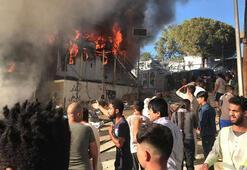 Yunanistan'da mülteci kampında yangın: Bir çocuk ve kadın öldü