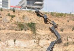 Servisi kaçıran yandı 550 basamaklı merdiven