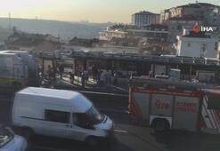 Şişlide metrobüs yangını
