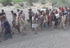 Husiler, esir aldıkları askerlerinin görüntülerini yayınladı